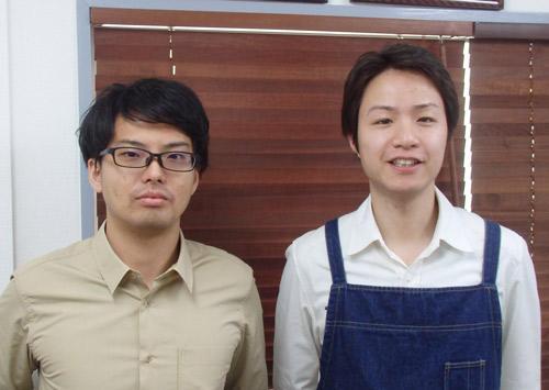 ブレンディア,左から代表の山川祐矢氏 と、エンジニアの小林雄一氏