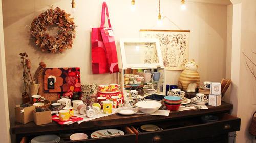 「暮らしを彩る陶器展」のコーナー