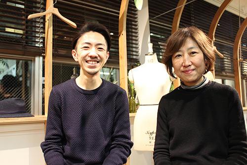 左からタッドファーの三代目で取締役CMOの松田真吾さん、母親でチーフスタイリストの松田さゆりさん