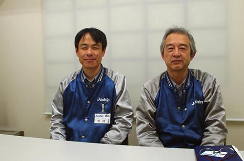 (左)松村太一課長代理と(右)萩永正彦主任