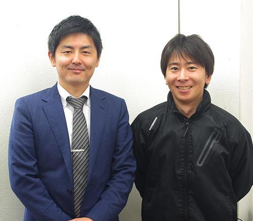 西川心ニ代表(左)と、経営戦略室の及川進規室長(右)