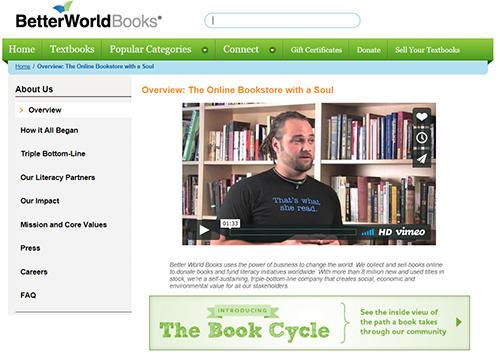 Better World Booksのホームページ