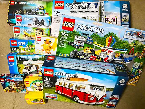 買い取ったレゴ製品。シリーズ物は特に人気だ