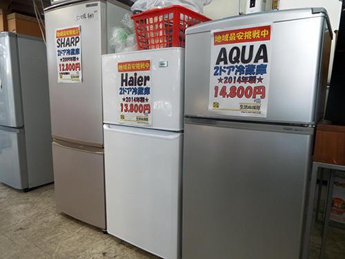 シャープ、ハイアール、アクアの冷蔵庫