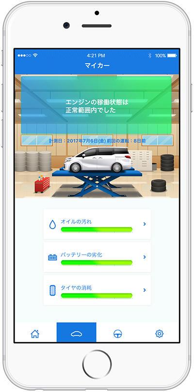 LINKDriveの車両診断画面