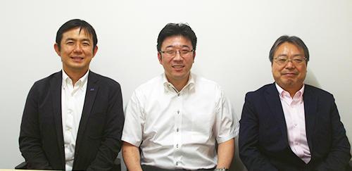 左から天野太郎社長、高鉾龍社長、宮内秀緒社長