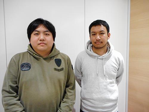 この企画を立ち上げた、電通の鈴木瑛氏(左)と木田東吾氏