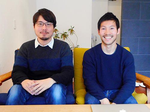 バリューブックス 中村和義取締役(右)と飯田光平氏