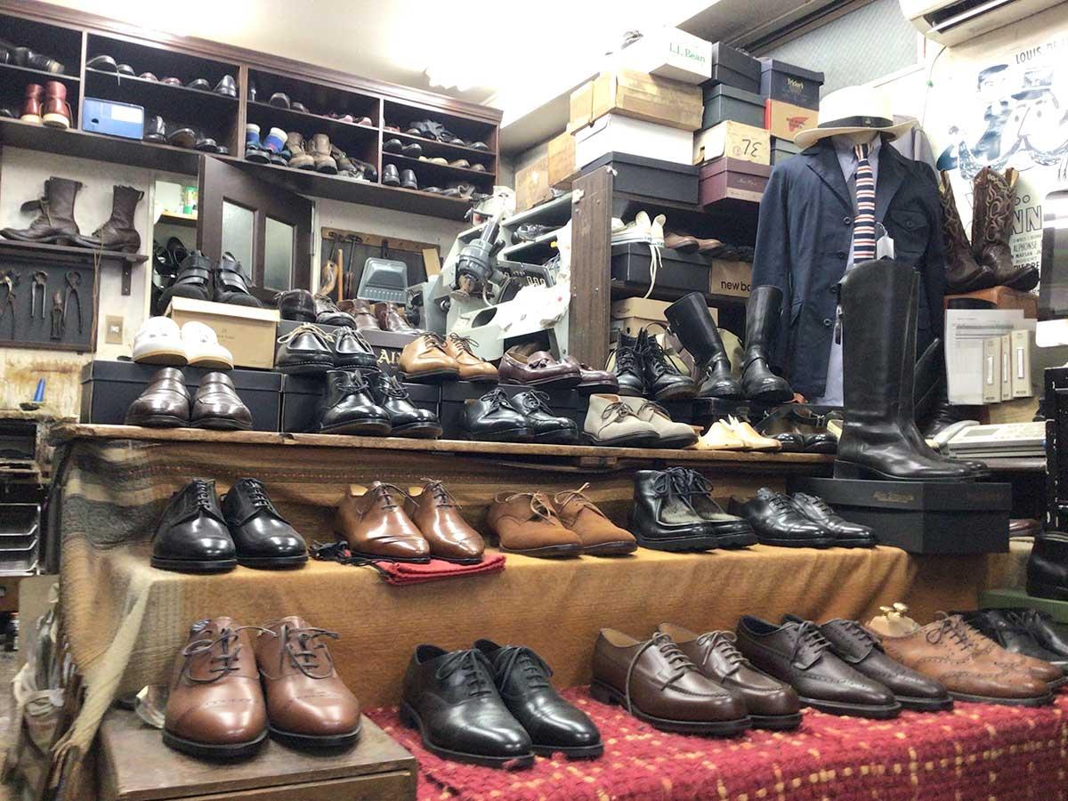 修理済みの中古革靴