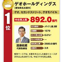 中古売上ランキング2017 BEST230 ゲオ、892億円で首位記録更新