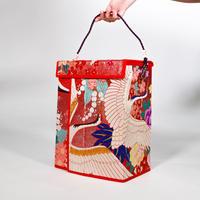 《東京山喜×アイデアスプラウト》着物帯を化粧品箱にリメイク