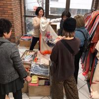 キモノ和楽市、常連客による着物フリマで1日に40万円売り上げる