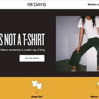 For Days(フォー・デイズ)、廃棄ゼロを標榜してスタートした 定額制の循環型Tシャツブランド《海外の二次流通 連載Vol.25》