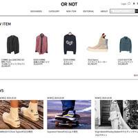 LOOP、越境サイト「OR NOT」メンズ衣料品に特化したプラットフォーム